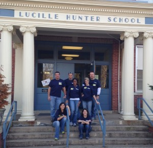 Turner Construction Paint the Town Blue Initiative