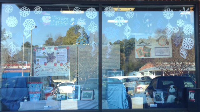 Completed windows with glare. Visit in person to see it!
