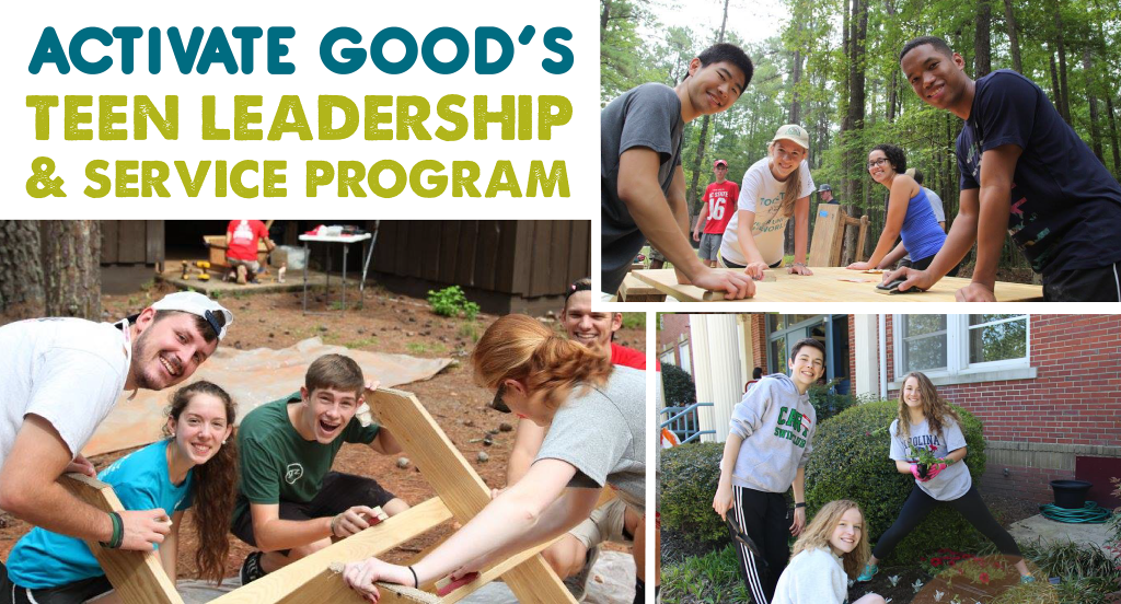 Visit http://activategood.org/teen-leadership-and-service-summer to REGISTER NOW!