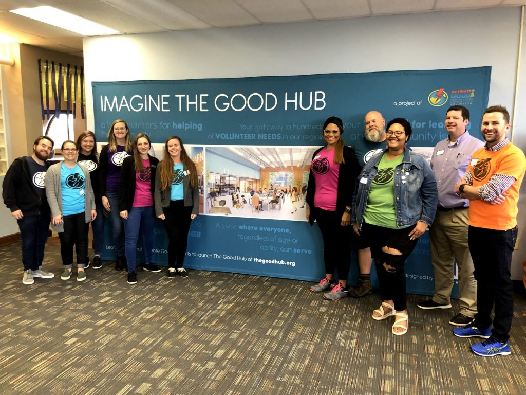 Our staff and board at the Good Hub